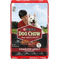 Dog Chow Complete Adult with Real Beef Dry Dog Food, 20-lb bag