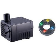 Jebao Mini Submersible 2.5W Fountain Pond Pump with LED Light, 40 GPH