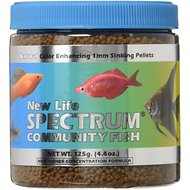 New Life Spectrum Community Sinking Pellet Fish Food, 4.4-oz jar