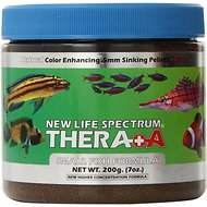 New Life Spectrum Thera-A 0.5mm Sinking Pellet Fish Food, 7-oz jar