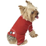 PetRageous Designs Cozy Thermal Dog PJs, Red, X-Small