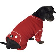 PetRageous Designs Cozy Thermal Dog PJs, Red, Small