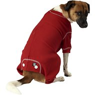PetRageous Designs Cozy Thermal Dog PJs, Red, Large