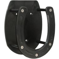 Tough-1 Polymer Horseshoe Salt Block Holder, Black