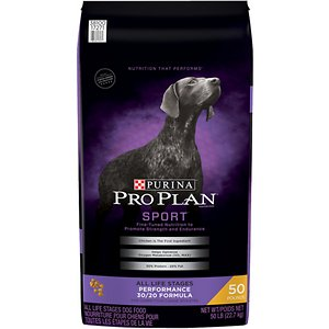 Purina Pro Plan Sport All Life Stages Performance 30/20 Chicken & Rice Formula Dry Dog Food, 50-lb bag