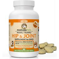 Makondo Pets Hip & Joint Dog Supplement, 60 count