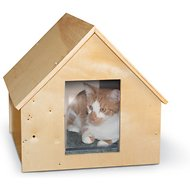 K&H Pet Products Birchwood Manor Outdoor Unheated Kitty Home, Natural Wood
