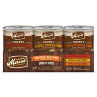 Merrick Chunky Recipes Variety Pack Canned Dog Food, 12.7-oz, case of 12