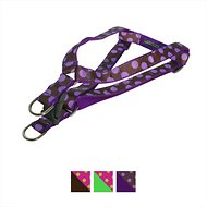 Sassy Dog Wear Dot Dog Harness, Medium, Orchid & Chocolate