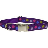 Sassy Dog Wear Purple Multi Dot Dog Collar, Large