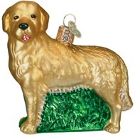 Old World Christmas Golden Retriever Glass Tree Ornament, 3.5-inch