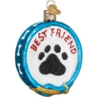Old World Christmas Dog Collar Glass Tree Ornament, 3.25-inch