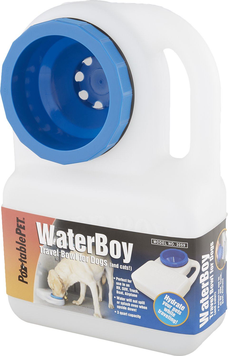 Portable Dog Water Bowl >> Heininger Waterboy Portable Pet Bowl 3 Qt