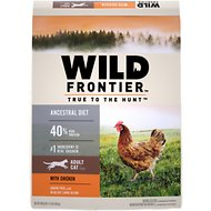 Nutro Wild Frontier Adult Open Valley Recipe Chicken Flavor High-Protein Grain-Free Dry Cat Food, 11-lb bag