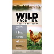 Nutro Wild Frontier Kitten Open Valley Recipe Chicken Flavor High-Protein Grain-Free Dry Cat Food, 2-lb bag