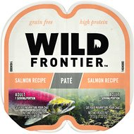 Nutro Wild Frontier Real Salmon Recipe Pate Adult High-Protein Grain-Free Cat Food Trays, 2.65-oz, case of 24 twin-packs