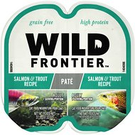 Nutro Wild Frontier Real Salmon & Trout Recipe Pate Adult High-Protein Grain-Free Cat Food Trays, 2.65-oz, case of 24 twin-packs