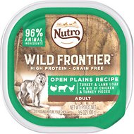 Nutro Wild Frontier Open Plains Recipe Turkey & Lamb Loaf with Chicken & Turkey Pieces Adult High-Protein Grain-Free Dog Food Trays, 3.5-oz, case of 24
