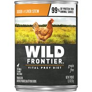 Wild Frontier by Nutro Chicken & Liver Stew Adult Grain-Free Canned Dog Food, 12.5-oz, case of 12