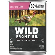 Nutro Wild Frontier Large Bird Recipe Turkey Stew with Liver High-Protein Grain-Free Canned Dog Food, 12.5-oz, case of 12