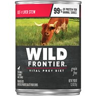 Wild Frontier by Nutro Beef & Liver Stew Adult Grain-Free Canned Dog Food, 12.5-oz, case of 12