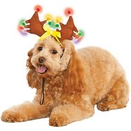 Rubie's Costume Company Light Up Reindeer Dog Antlers, Medium/Large