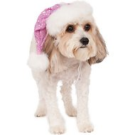 Rubie's Costume Company Sequin Santa Dog Hat, Small/Medium, Pink
