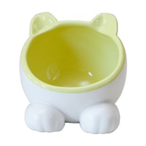 ViviPet Ceramic Big Head Elevated Cat Water Bowl, Yellow; Serve up something fun with ViviPet's Ceramic Big Head Elevated Cat Water Bowl! This colorful tilted dish features a 15-degree ergonomic angle that's purr-fect for cats of all ages and sizes. Its shallow and wide shape is also great for little ones who suffer from whisker fatigue or flat faced kitties such as Persians and Himalayans. Plus, elevated bowls are the perfect way to keep insects out of your pet's bowl. With so many colorful options to choose from, there's a ViviPet bowl for every décor. Choose different colors for every kitty in your household and purr-sonalize feeding time!