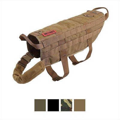 OneTigris Tactical Training Molle Vest Dog Harness