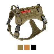 OneTigris Tactical Service Vest Dog Harness, Ranger Green, Medium