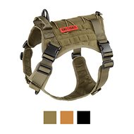 OneTigris Tactical Service Vest Dog Harness, Ranger Green, Large