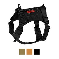 OneTigris Tactical Service Vest Dog Harness, Black, Large