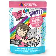BFF OMG Date Nite! Duck & Salmon Dinner in Gravy Grain-Free Cat Food Pouches, 2.8-oz, pack of 12