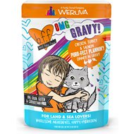 BFF Oh My Gravy! Purr-Fect Plannin'! Chicken, Turkey & Salmon Dinner in Gravy Grain-Free Cat Food Pouches, 2.8-oz, pack of 12