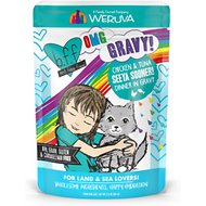 BFF Oh My Gravy! Seeya Sooner! Chicken & Tuna Dinner in Gravy Grain-Free Cat Food Pouches, 2.8-oz, pack of 12