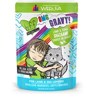 BFF Oh My Gravy! Shazaam! Lamb & Tuna Dinner in Gravy Grain-Free Cat Food Pouches, 2.8-oz, pack of 12