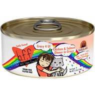 BFF OMG Crazy 4 U! Chicken & Salmon Dinner in Gravy Grain-Free Canned Cat Food, 5.5-oz, case of 24