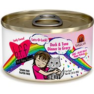 BFF Oh My Gravy! Lots-O-Luck! Duck & Tuna Dinner in Gravy Grain-Free Canned Cat Food, 2.8-oz, case of 24
