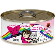 BFF Oh My Gravy! Lots-O-Luck! Duck & Tuna Dinner in Gravy Grain-Free Canned Cat Food, 5.5-oz, case of 24