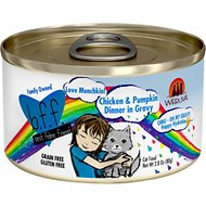 BFF OMG Love Munchkin! Chicken & Pumpkin Dinner in Gravy Grain-Free Canned Cat Food, 2.8-oz, case of 24