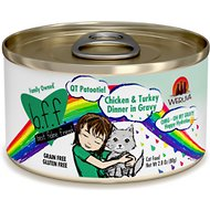 BFF OMG QT Patootie! Chicken & Turkey Dinner in Gravy Grain-Free Canned Cat Food, 2.8-oz, case of 24