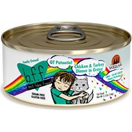 BFF OMG QT Patootie! Chicken & Turkey Dinner in Gravy Grain-Free Canned Cat Food, 5.5-oz, case of 24