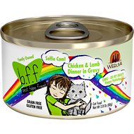 BFF Oh My Gravy! Selfie Cam! Chicken & Lamb Dinner in Gravy Grain-Free Canned Cat Food, 2.8-oz, case of 24