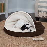 FurHaven Faux Sheepskin Snuggery Orthopedic Dog & Cat Bed, Espresso, 26-in