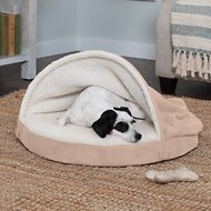 FurHaven Faux Sheepskin Snuggery Orthopedic Pet Bed, 26-inch, Cream