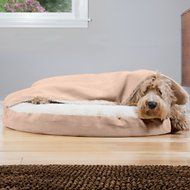 FurHaven Faux Sheepskin Snuggery Orthopedic Dog & Cat Bed, Cream, 35-in