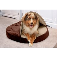 FurHaven Microvelvet Snuggery Orthopedic Dog & Cat Bed, Espresso, 26-in