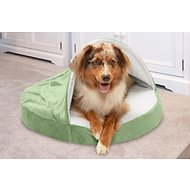 FurHaven Microvelvet Snuggery Orthopedic Dog & Cat Bed, Sage, 26-in
