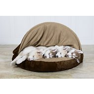 FurHaven Microvelvet Snuggery Orthopedic Dog & Cat Bed, Espresso, 35-in