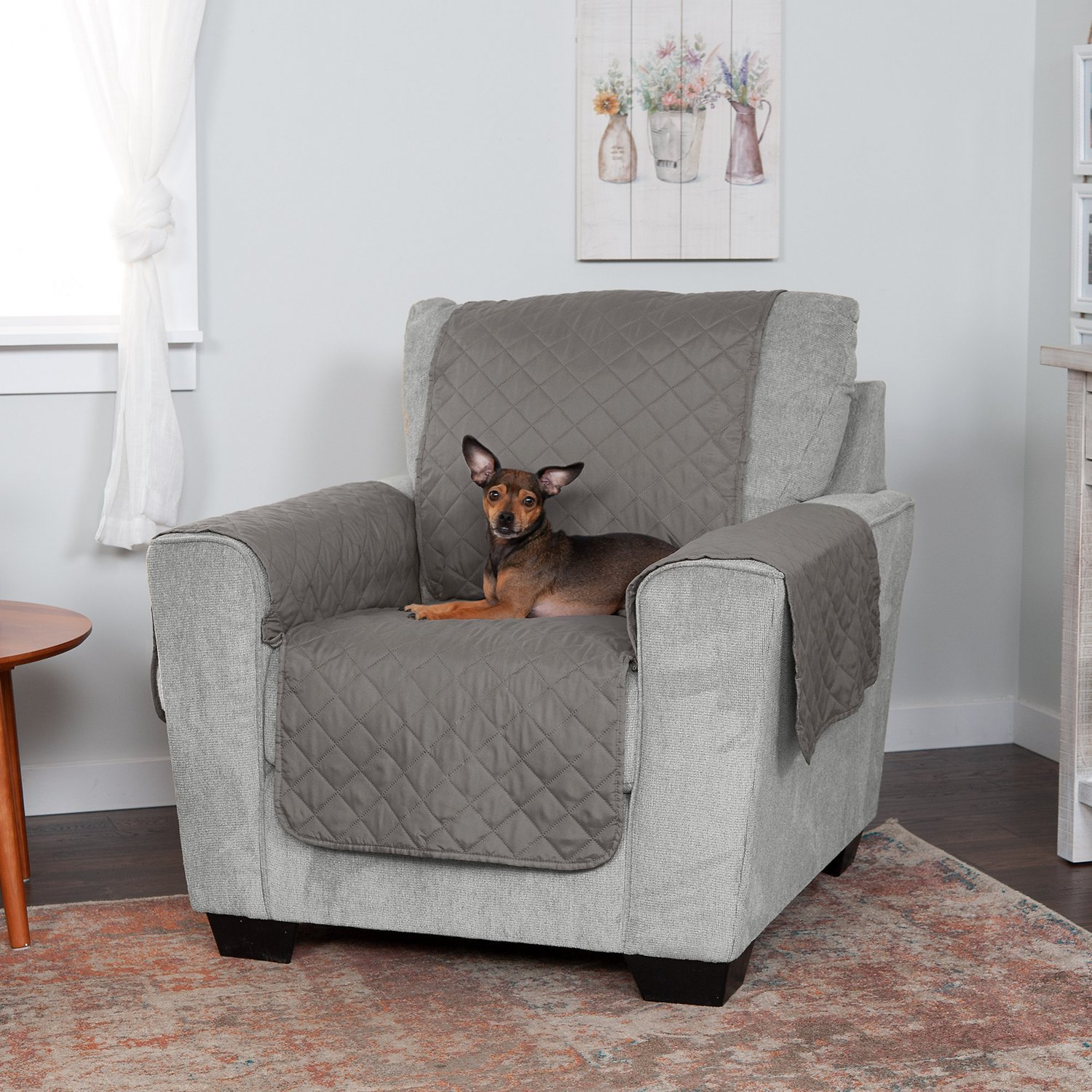 Excellent Furhaven Water Resistant Reversible Furniture Protector Gray Mist Chair Beatyapartments Chair Design Images Beatyapartmentscom
